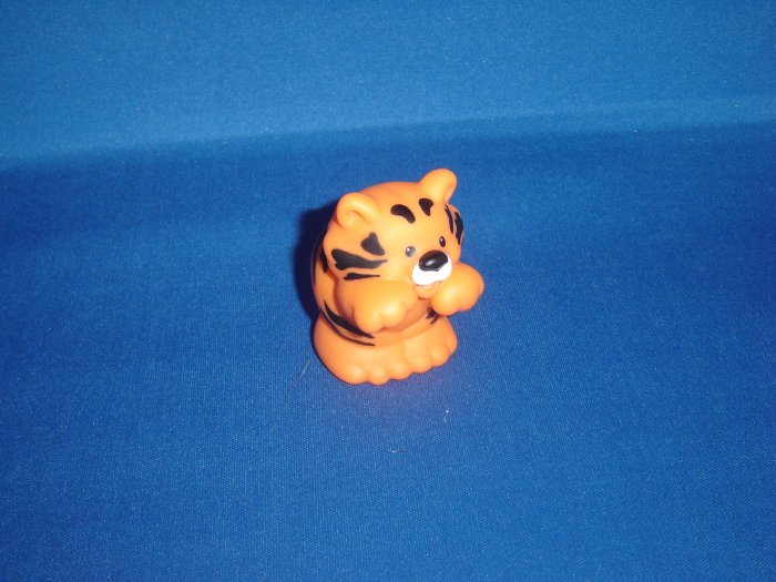 2001 Fisher Price Little People Musical Zoo Train Orange and Black Striped Tiger Cub Newer FP LP