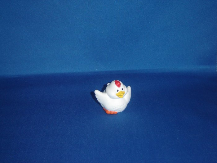 2001 Fisher Price Little People White Chicken for Barn or Farm Newer FP LP