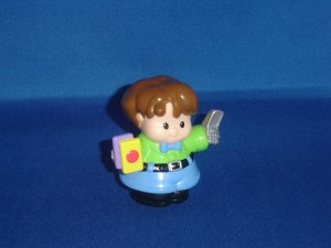 2006 Fisher Price Little People Teacher Professor W Books and Cell Phone For School Newer FP LP
