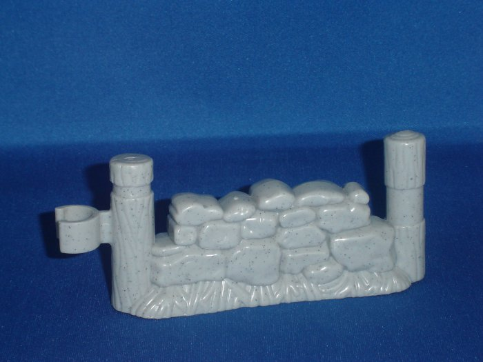 Fisher Price Little People Gray Fence Piece For Barn Nativity and Castle Newer FP LP