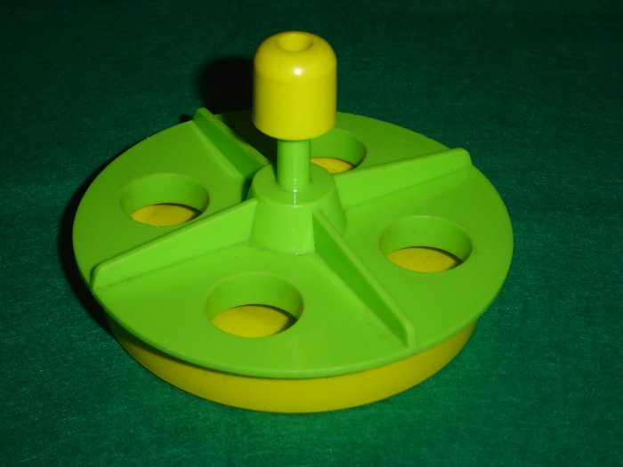 Vintage 1971 Fisher Price Little People Green Yellow Merry Go Round From 923 House