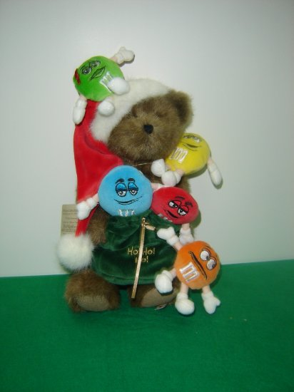 New Genuine M&Ms Collection Boyds Santa Bear Nicklebeary With Friends 12 Inches W Tag Mint  919026