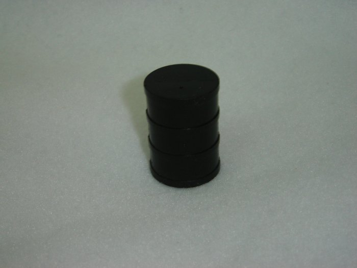 Vintage Fisher Price Little People Black Round Oil Drum Barrel for 942 Lift and Load Depot 1977