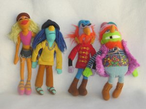 Jim Henson Muppet Collection Electric Mayhem Band Plush Dolls Janice Dr Teeth Zoot Floyd Sababa