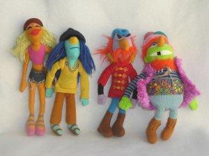 Jim Henson Muppet Collection Electric Mayhem Band Plush Dolls Janice Dr Teeth Zoot Floyd Sababa