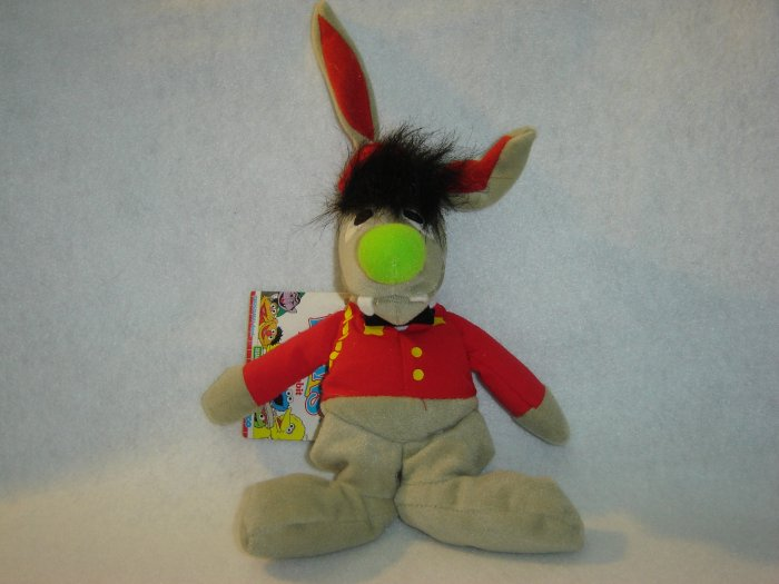 1997 New Jim Henson Muppets Sesame Street BENNY RABBIT Plush Beanie 9 Inches W Tags By Tyco