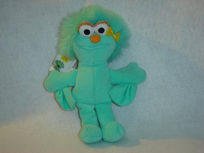 1997 New Jim Henson Muppets Sesame Street ROSITA Plush Beanie 9 Inches W Tags By Tyco