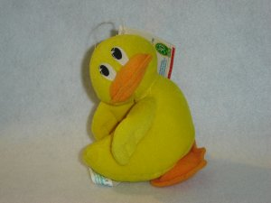 1997 New Jim Henson Muppets Sesame Street RUBBER DUCKIE Plush Beanie With Original Tags By Tyco