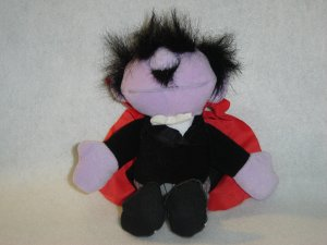 1997 New Jim Henson Muppets Sesame Street AMAZING MUMFORD MAGICIAN Plush Beanie 8 Inches W Tags Tyco