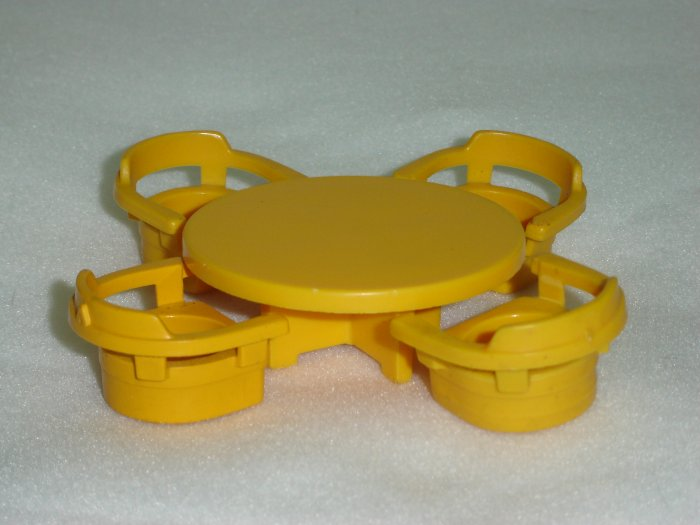Vintage 1969 Fisher Price Little People Yellow Table and 4