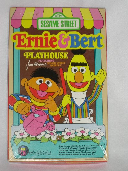 Vintage 1986 Jim Hensons Muppets Sesame Street Ernie and Bert Playhouse Colorforms Stickers
