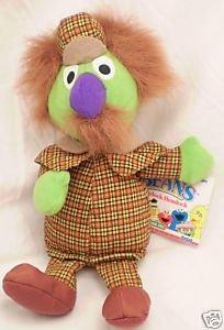 1997 New Jim Henson Muppets Sesame Street SHERLOCK HEMLOCK Plush Beanie 8 Inches W Tags Tyco