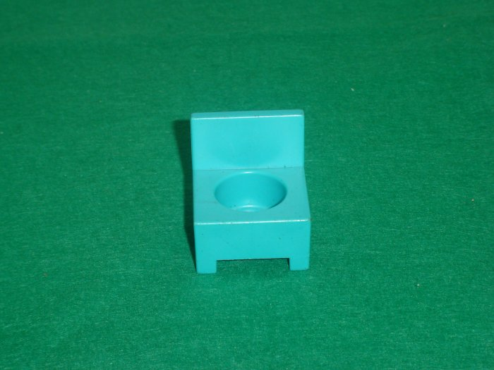 Vintage Fisher Price Little People Childrens Hospital 931 Aqua Blue Waiting Room Chair
