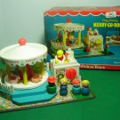 Vintage 1972 Fisher Price Little People Play Family Merry Go Round Complete W Box
