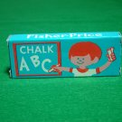 Vintage Fisher Price Little People Chalk Box and 3 Pieces of Chalk