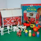 Vintage Fisher Price Little People Farm Barn 915 Complete Animals Accessories and Box