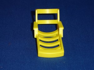 Vintage Fisher Price Little People Yellow Lounge Chair for Happy Houseboat  A Frame and Pool 990 985