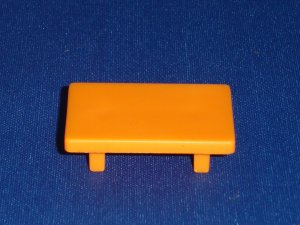 Vintage Fisher Price Little People Orange Coffee End Table For the 952 Play Family House