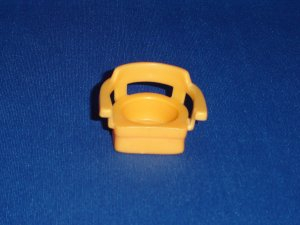 Vintage Fisher Price Little People Light Orange Captains Chair