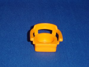 Vintage Fisher Price Little People Orange Captains Chair