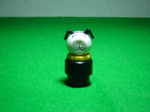 Vintage Fisher Price Little People Black Dog With Yellow Collar