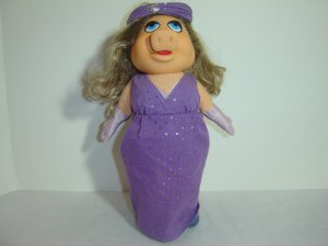 Vintage Fisher Price Muppets 1980 MISS PIGGY DRESS UP DOLL Jim Henson 890 Plush Toy