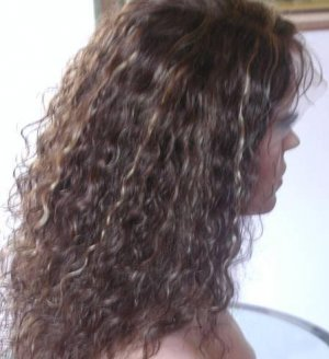 """Indian Remy Full Lace Wig-Water wave 16"""""""