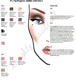 """300 + MAC PRO Cosmetics Face Charts - chart - Halloween - """"RED"""" she said - barbie - fafi and more"""