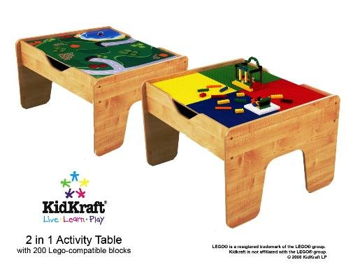 Kidkraft 2 in 1 Lego Table Duplo Compatible New