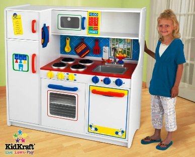 KidKraft Deluxe Let's Cook Childrens Kitchen Toy Pretend Play Set New