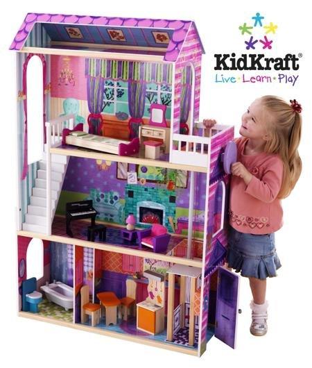 KidKraft Interactive Wooden Dollhouse w/Working Lights & 14 pc. Furniture