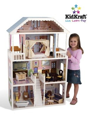 KidKraft Savannah Wooden Dollhouse with Furniture