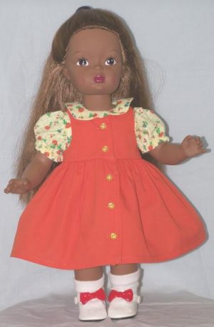Orange Jumper for Terri Lee or other 15 to 16-inch Dolls