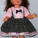 Calico and Gingham Jumper for Terri Lee or other 15 to 16-inch dolls