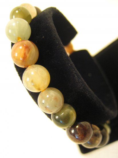 Gemstone Beads Bracelet #2422 Muti Color Round