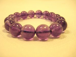Purple Round Natural Gemstone Beads Bracelets #2448