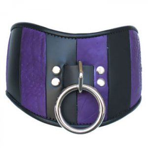 Purple & Black Leather Posture Collar Med/Large