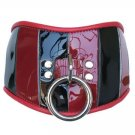 Red & Black Patent Leather Posture Collar Med/Large
