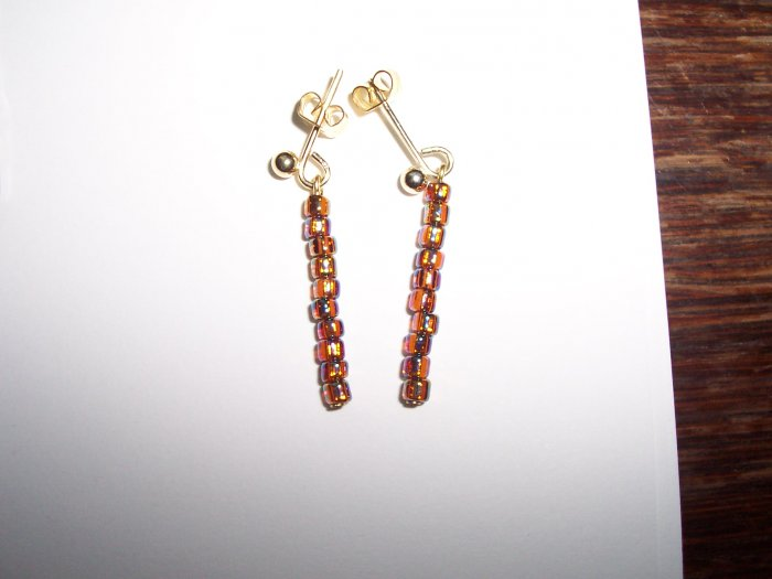 Copper AB earrings