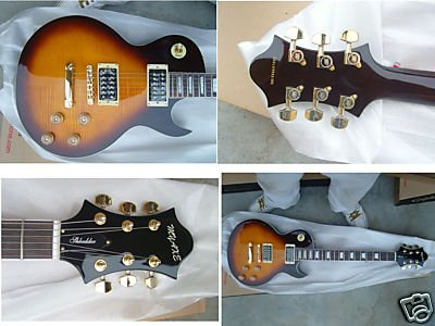 Myaxe Les Paul Custom Vintage Burst Guitar Hand Built + Case and Ship