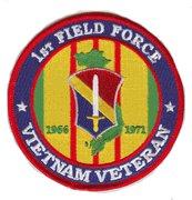 1st Field Force Vietnam Veteran Patch 1966-1971