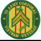 "US Army Corporal Vietnam Veteran 4"" Patch"