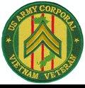 "US Army Corporal Vietnam Veteran 4"" Patch"