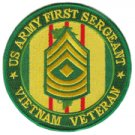 "US Army Sergeant 1st Class Vietnam Veteran 4"" Patch"