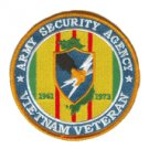 "Army security Agency Vietnam Veteran 4"" Patch 1961-1973"