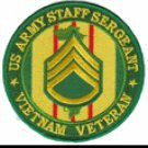 "US Army Staff Sergeant Vietnam Veteran 4"" Patch"