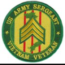 "US Army Sergeant Vietnam Veteran 4"" Patch"