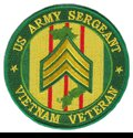 "US Army Sergeant Vietnam Veteran 4"" Patch"