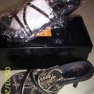 NIB Women PAZZO Tepper Sandal Slide White/Gold 7.5 MED