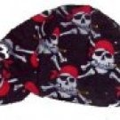 Black Pirate Skull Welder Biker hat, your size